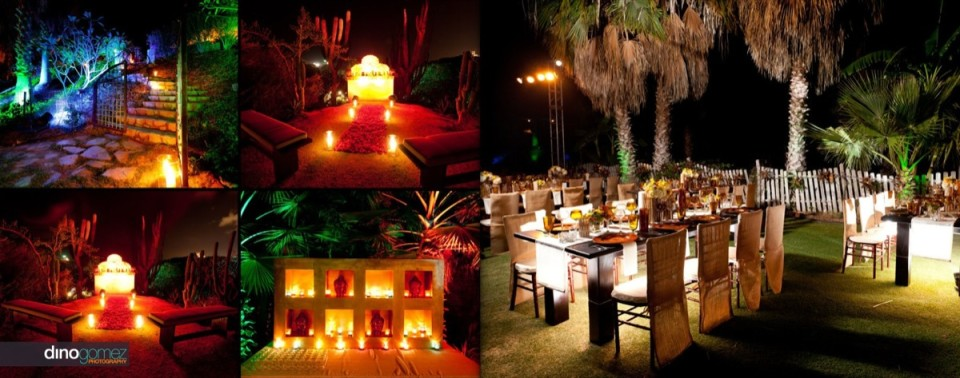 Simple setup for an event in Mexico with beautiful lighting