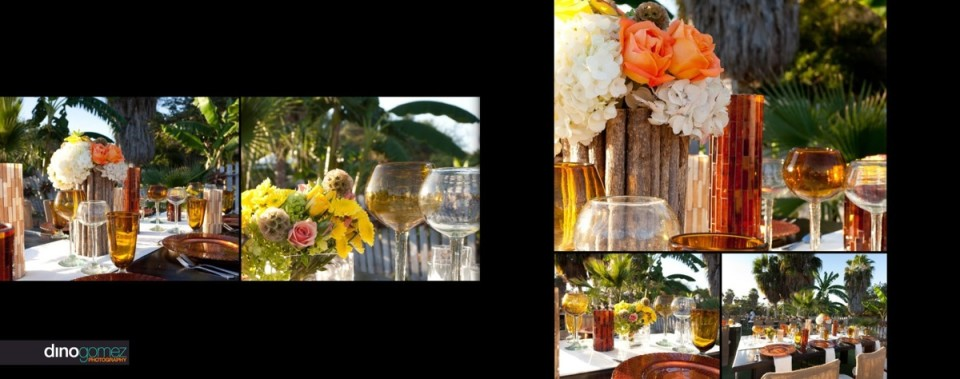 Event shots of the table setting and decor in Mexico