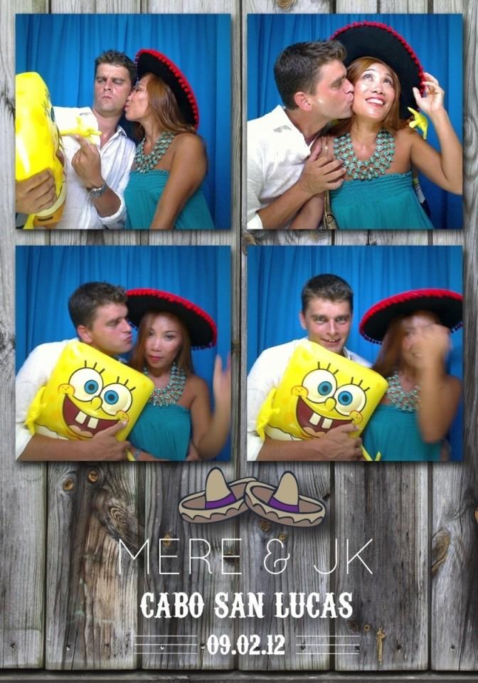 Cute couple funny photo booth board along with Sponge Bob
