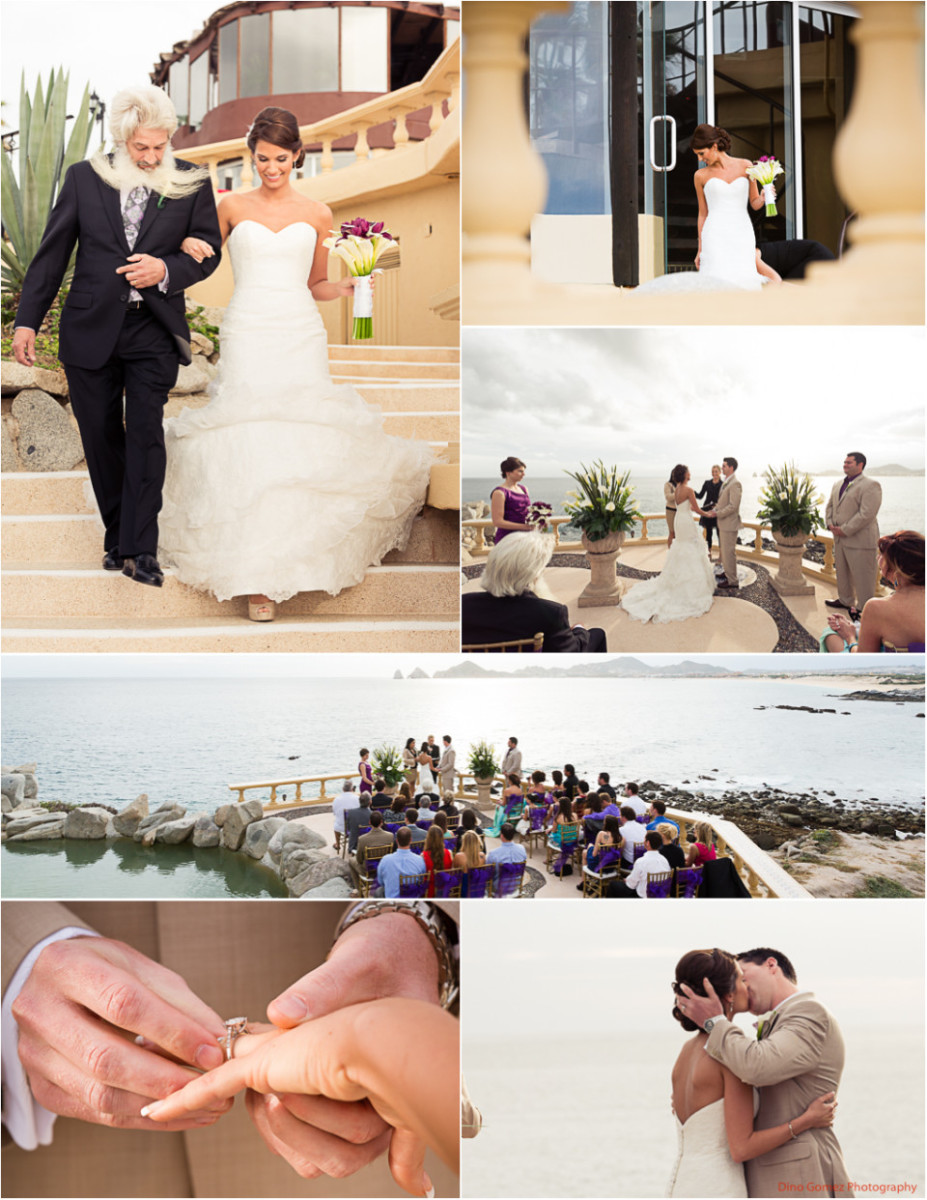 A stunning collection of images showing a wedding in Cabo San Lucas, Mexico