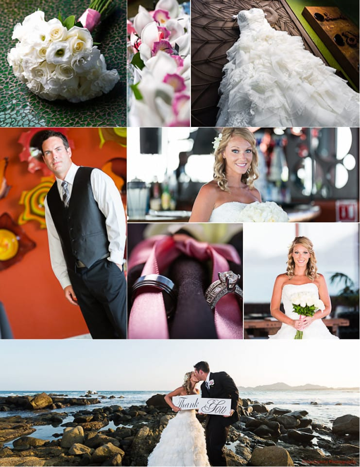 Newlyweds in love destination wedding board in Mexico with wedding photographer in Cabo Dino Gomez