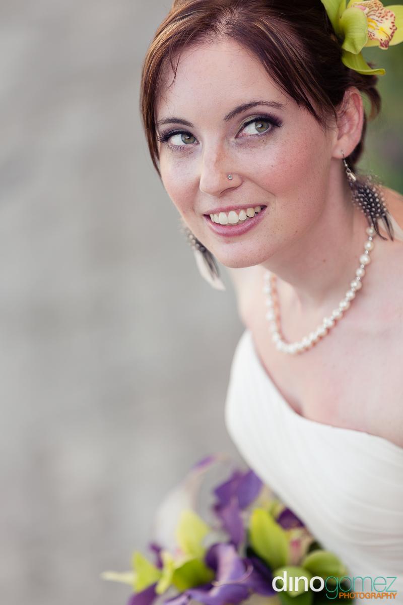 Breathtaking bridal portrait by destination wedding photographer Dino Gomez