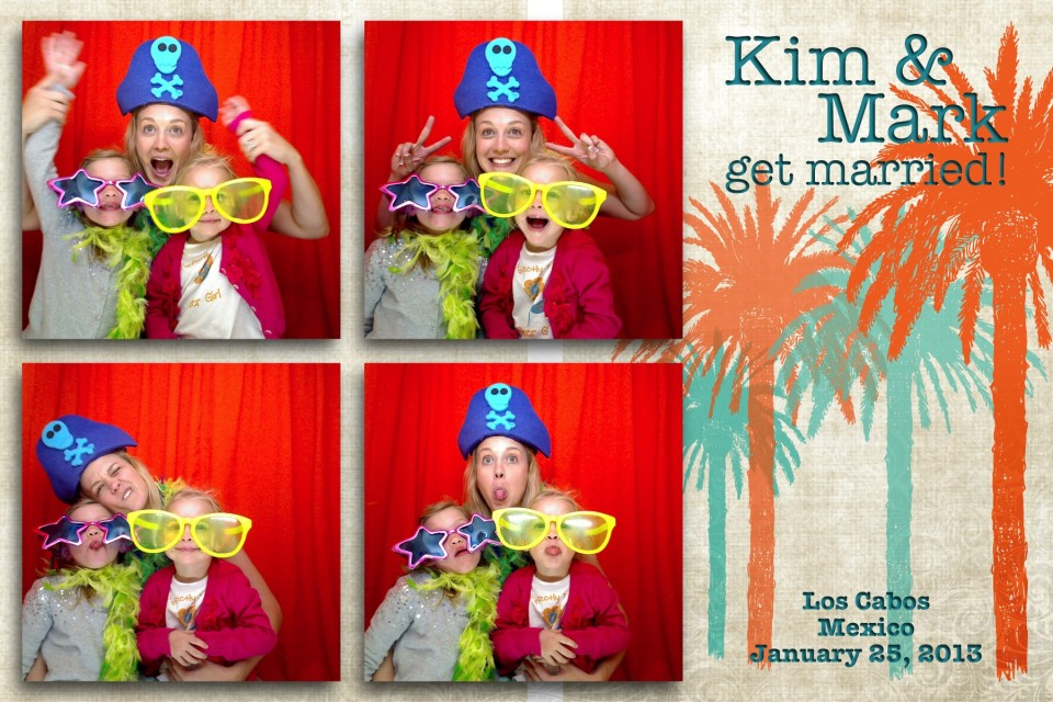 Three guests having great fun at a party by enjoying the photo booth provided by destination photographer DIno Gomez