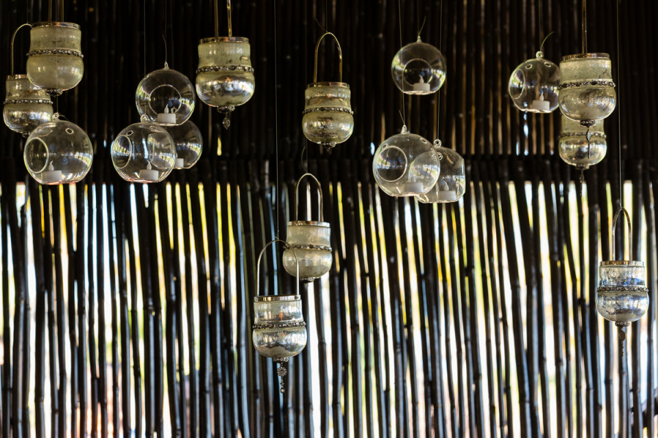 Beautiful hanging candle holders by artistic wedding photographer Dino Gomez