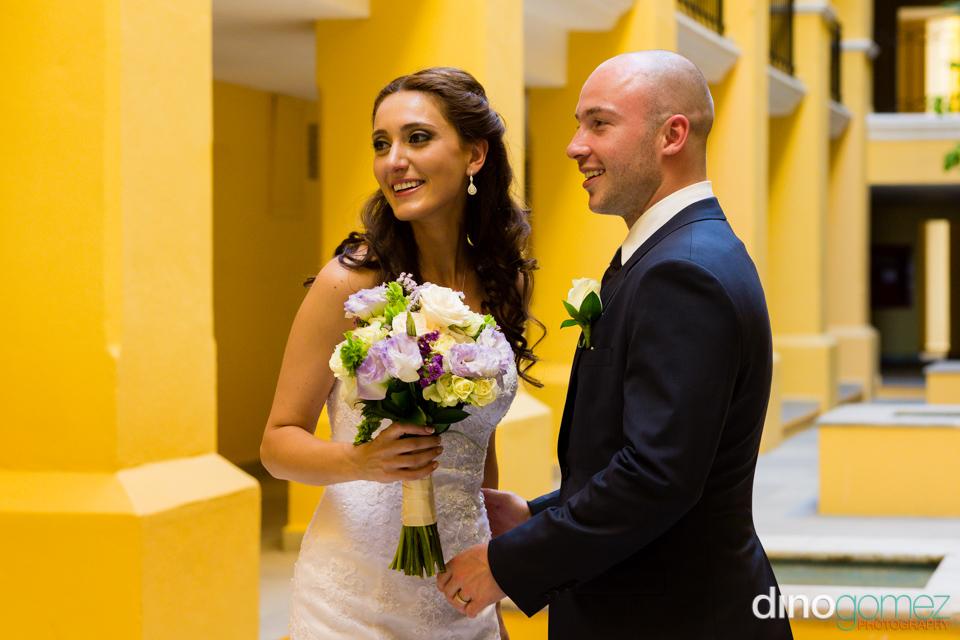 Bride and groom portrait by destination wedding photographer Dino Gomez