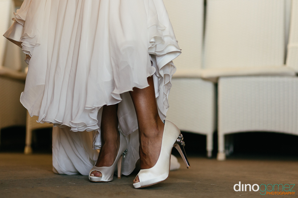 White high heel wedding shoes