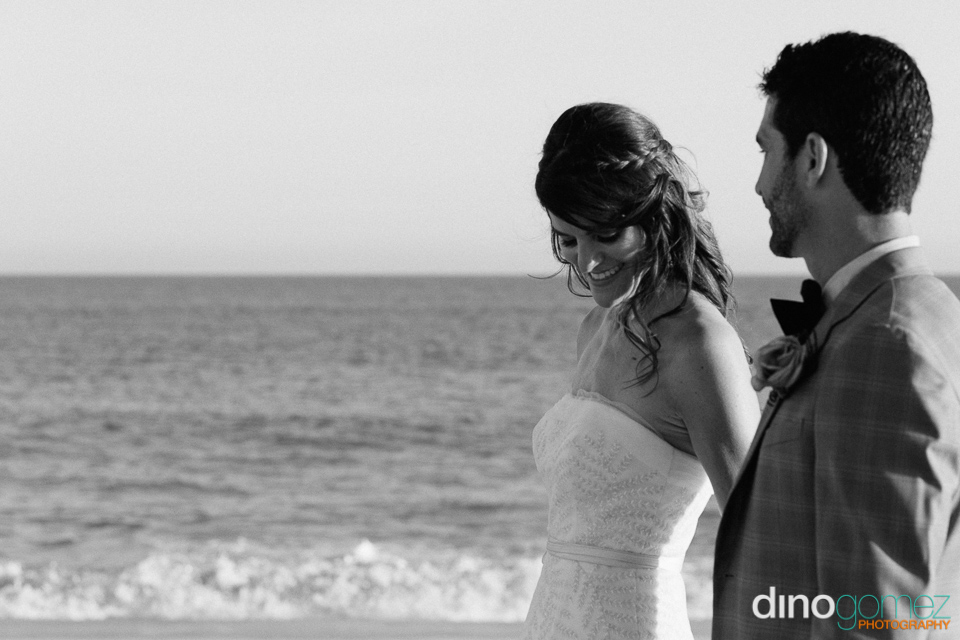 Romantic And Beautiful Newlyweds On The Beach In Mexico