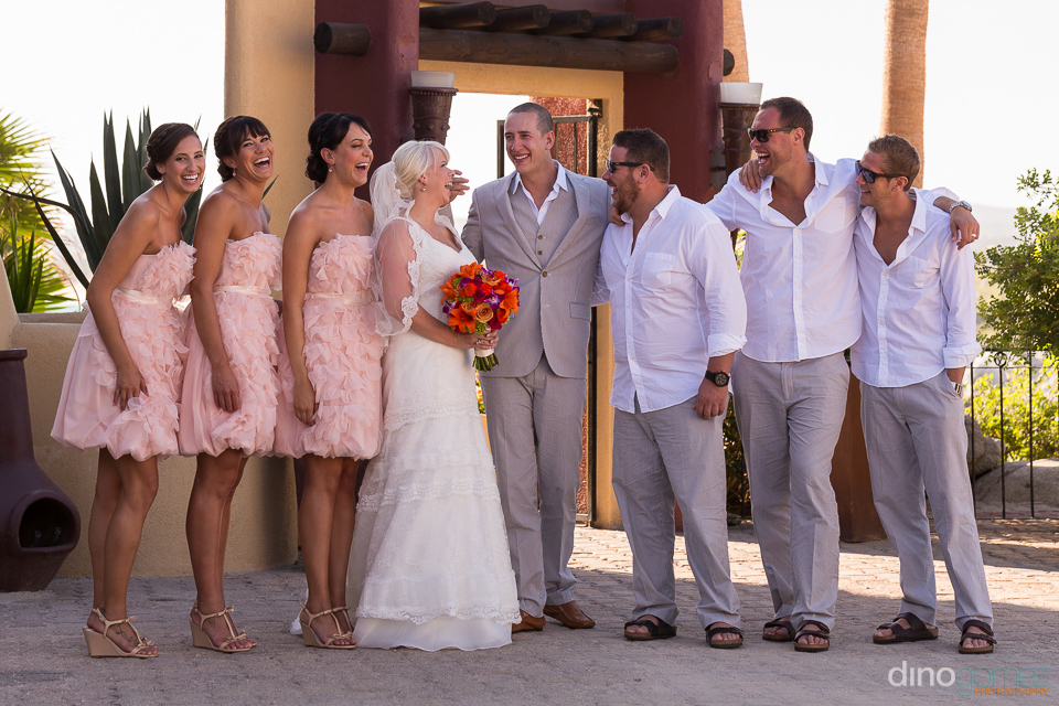 Cute wedding bridal party shot by destination wedding photographer Dino Gomez