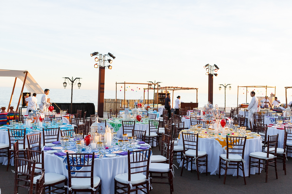 A formal dinner setup for an event in Mexico