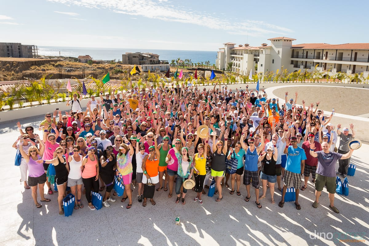 Group shot at Randstad performance forum in Los Cabos Mexico