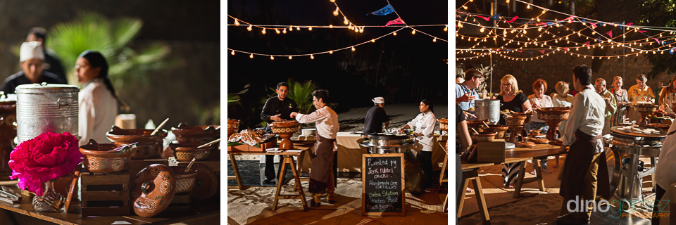 Three night shots of a welcome dinner in Mexico by photographer in Cancun Dino Gomez