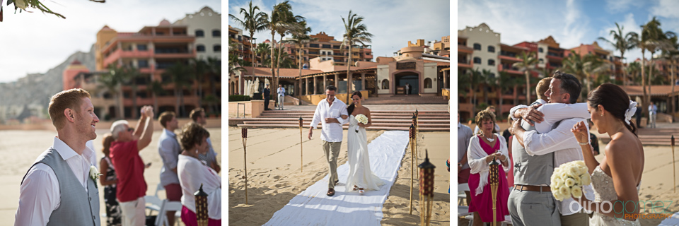 Beautiful views of the starting of the wedding ceremony in Mexico