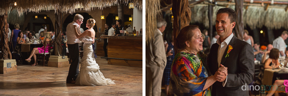 Sweet father-daughter dance and mother-son dance shot by photographer in Playa del Carmen Dino Gomez