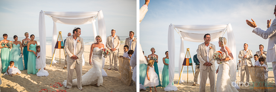 Cute shots of the happy bride walking around at their destination wedding in Mexico