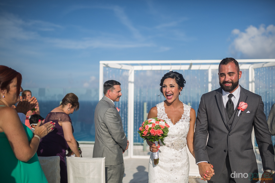 destination wedding at the beach palace cancun bride and groom e