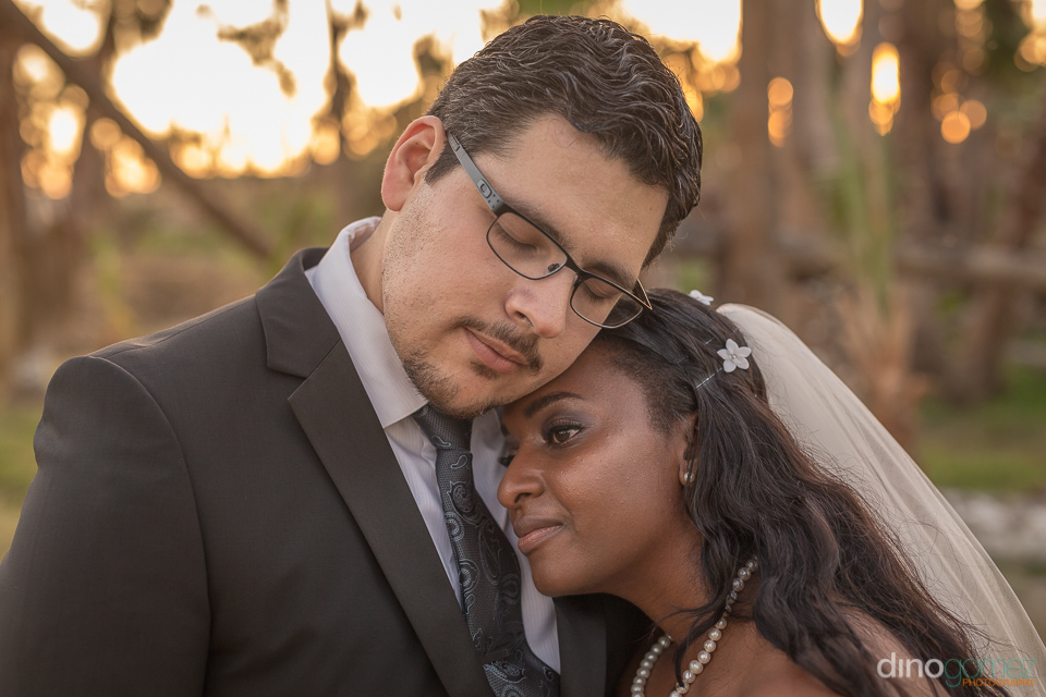bride and groom close up - Wedding Photographer in Mexico
