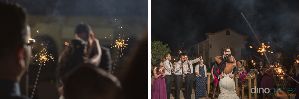 first dance and sparklers by photographer in mexico