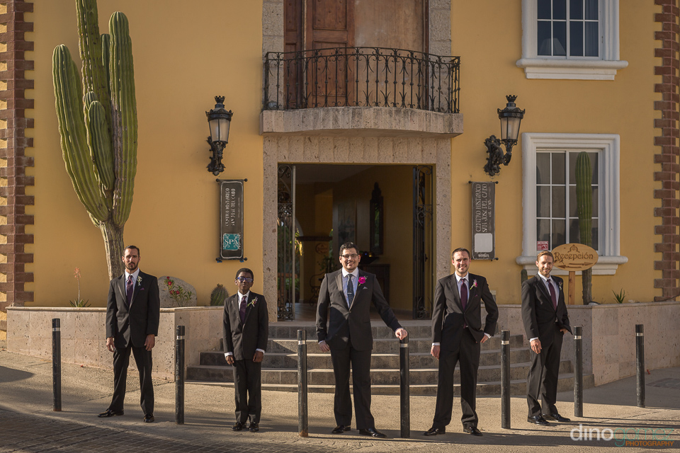 groom with groomsmen - Wedding Photographer in Mexico