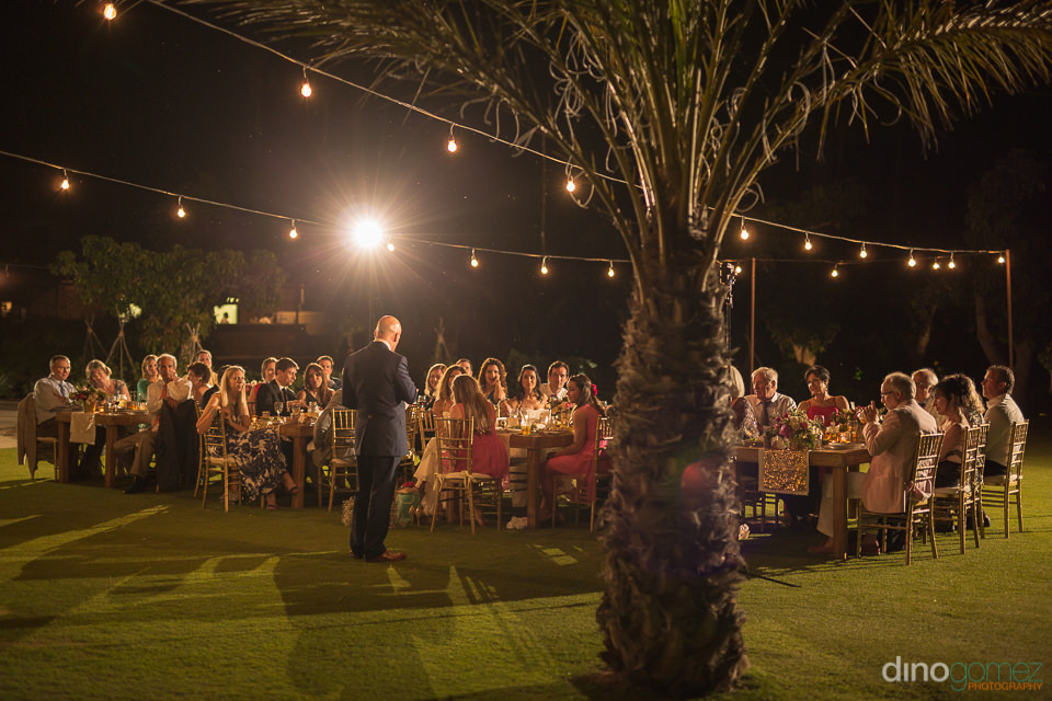 Speech at a wedding dinner at Flora Farm Los Cabos