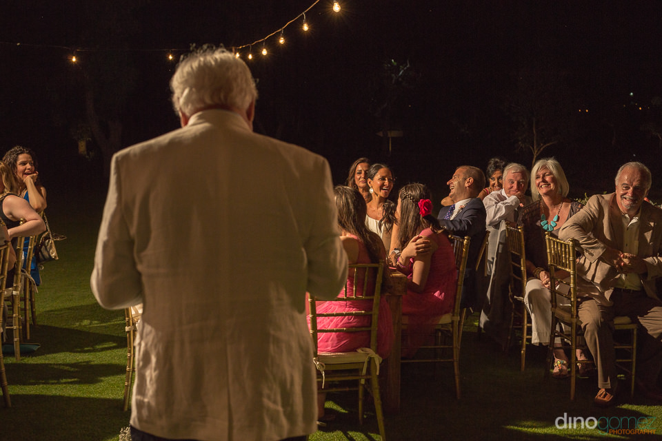 Speech from the father of the bride makes everybody laugh