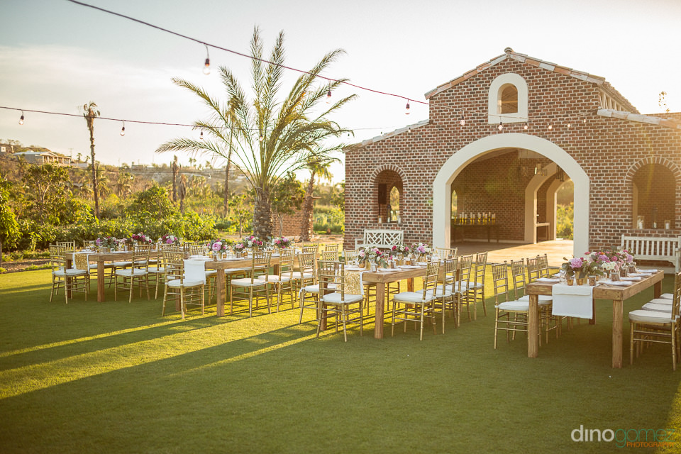 Wedding reception at Flora Farm Los Cabos