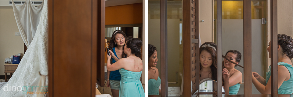 Bride getting ready at the Dreams Riviera Cancun