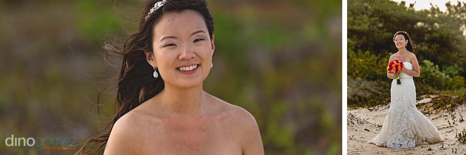 Bride on the beach Dreams Riviera Cancun