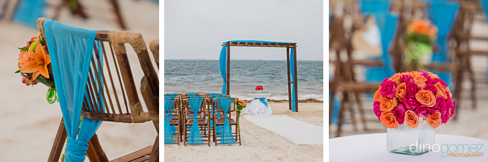 Ceremony setup at dreams riviera cancun