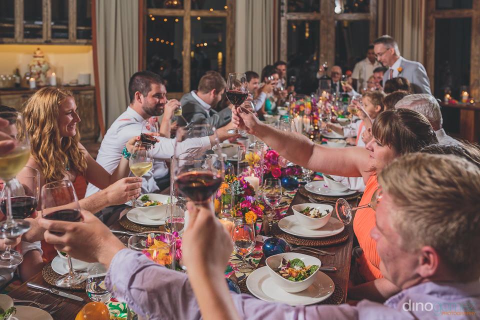 Toast at weddings in Cabo at Hacienda