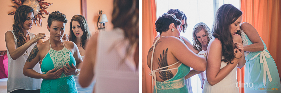 Wedding Photographer in Cabo - Bride get ready