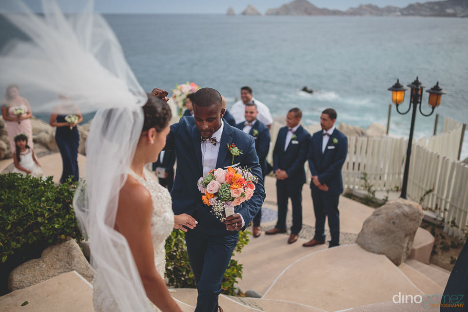 Wedding at Cabo arch