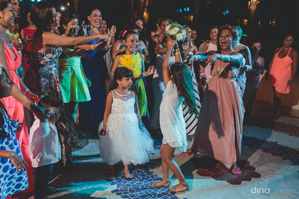 Guests dance at Cabo wedding