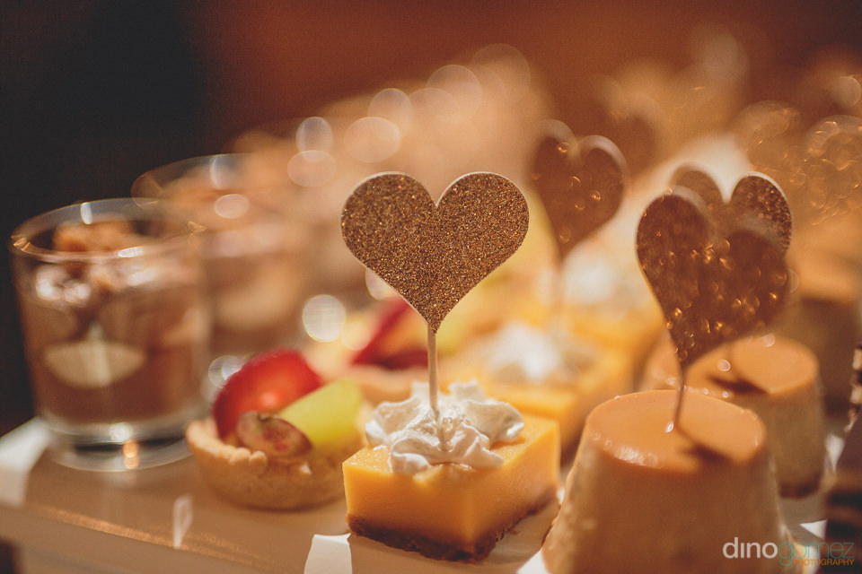 Bite sized wedding desserts