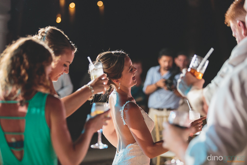 Cabo wedding reception