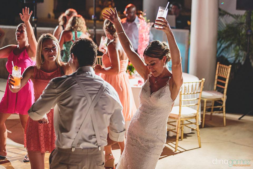Bride dances at the hilton los cabos