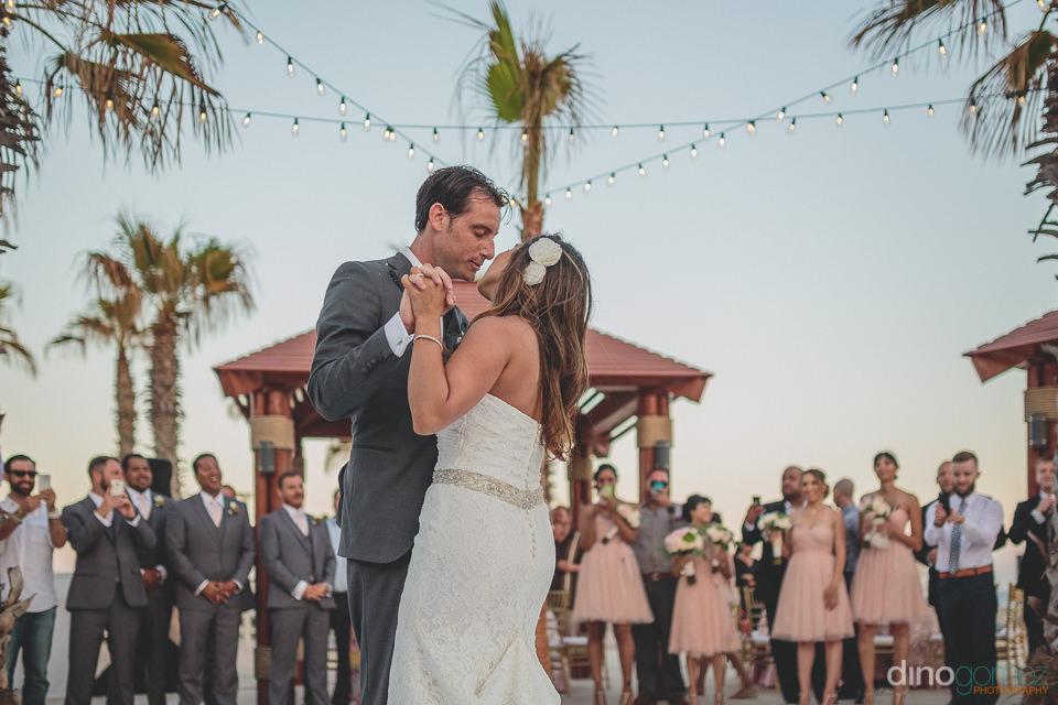 Wedding dance under Cabo sky
