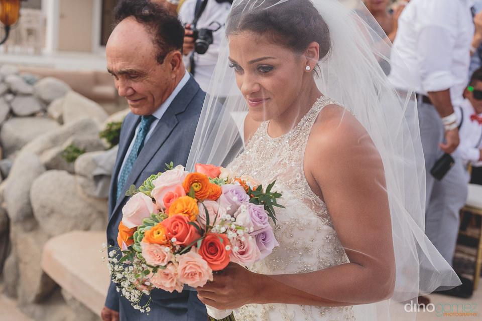 White wedding veil bride