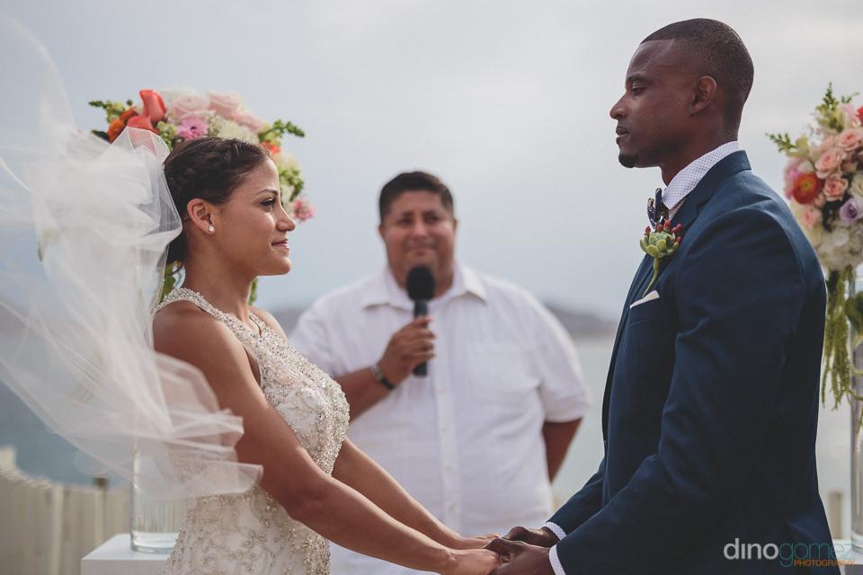Cabo wedding flowers altar