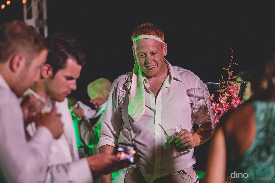 Groomsmen have fun at Cabo San Lucas wedding