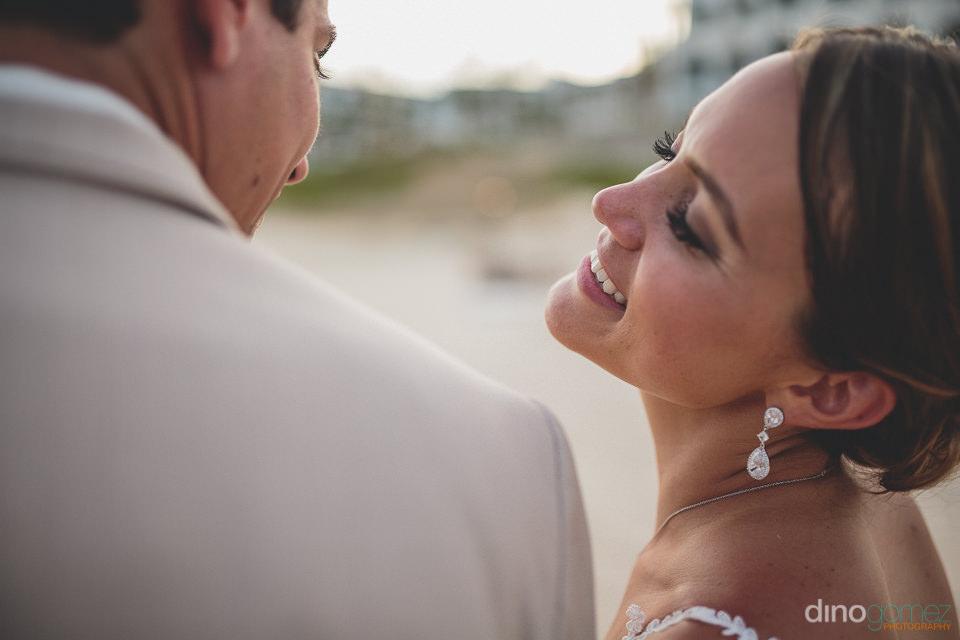 Sparkling diamond wedding earrings