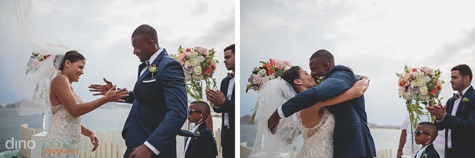 Wedding handshake in Cabo San Lucas