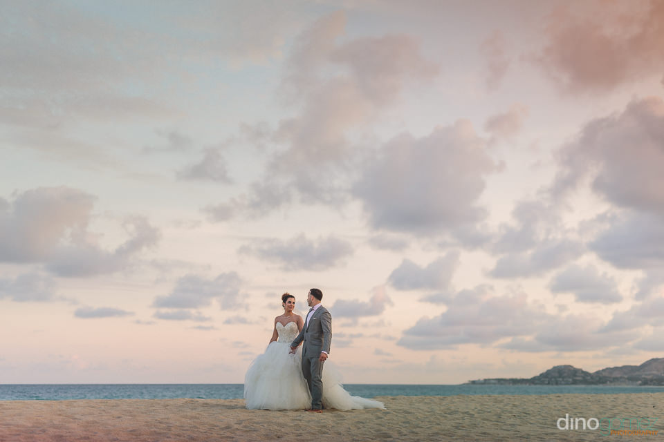 cabo san lucas sunset wedding photo