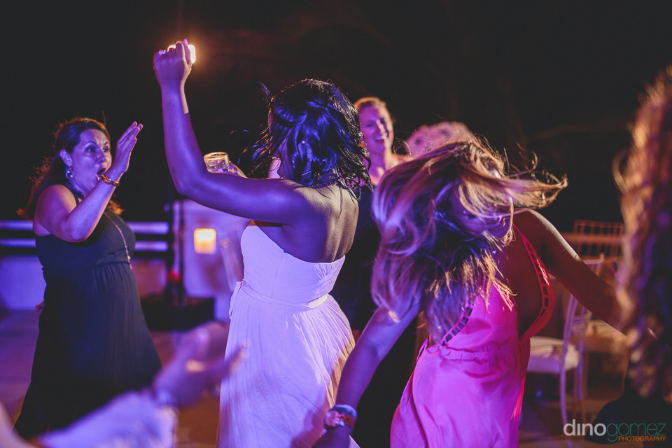 dino gomez wedding photo of guests dancing