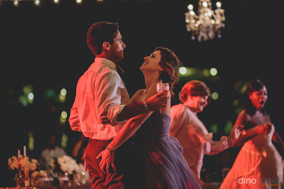 dancing at luxury cabo wedding