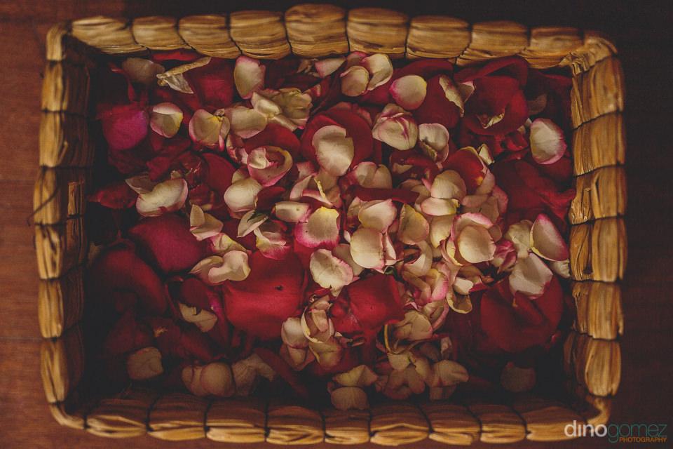 flower girl wedding basket
