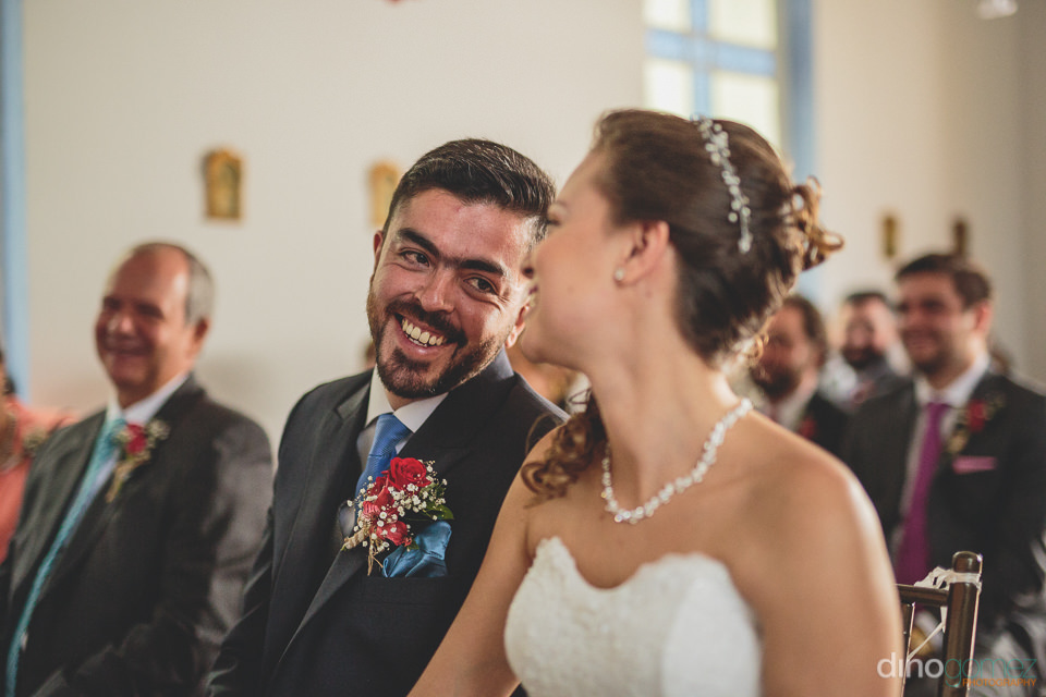 bride and groom at colombian church wedding ceremony – photogr