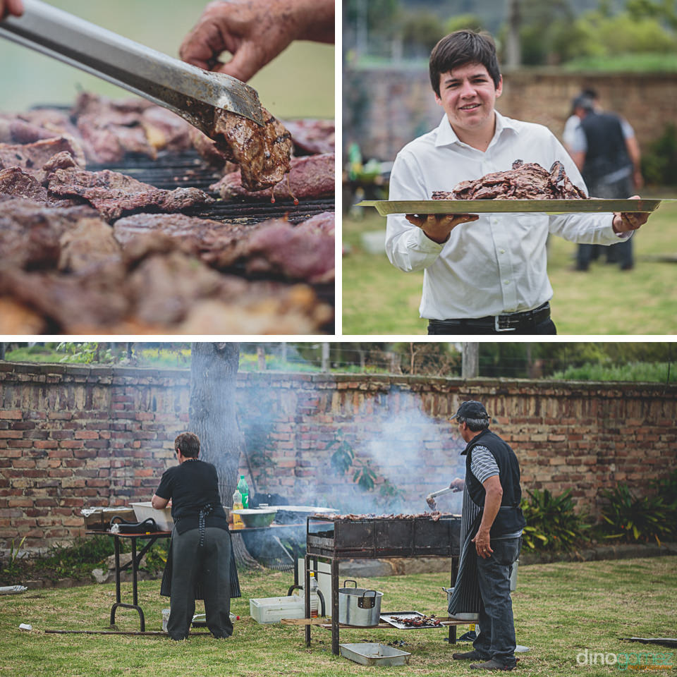 traditional colombian barbecue at wedding