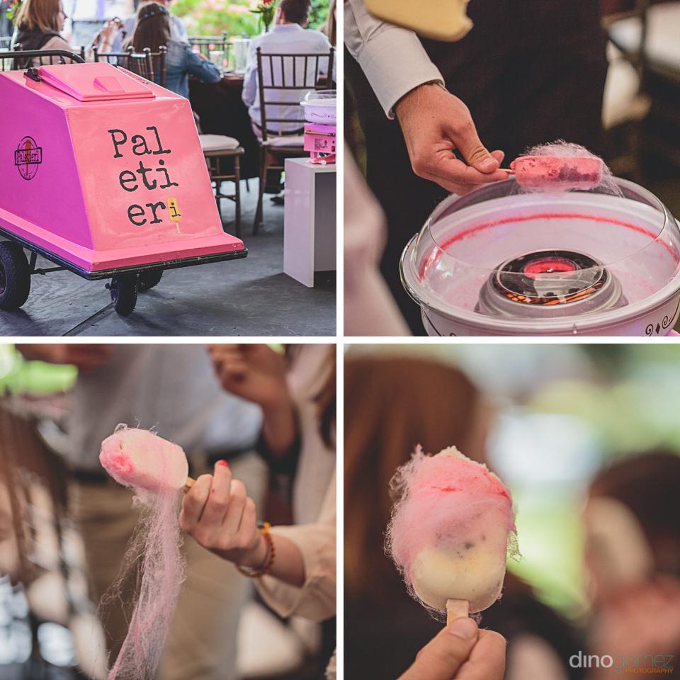 diy wedding dessert cotton candy and ice cream dino gomez photog