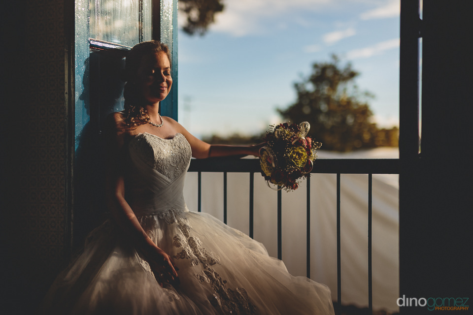 bride at countryside wedding in colombia