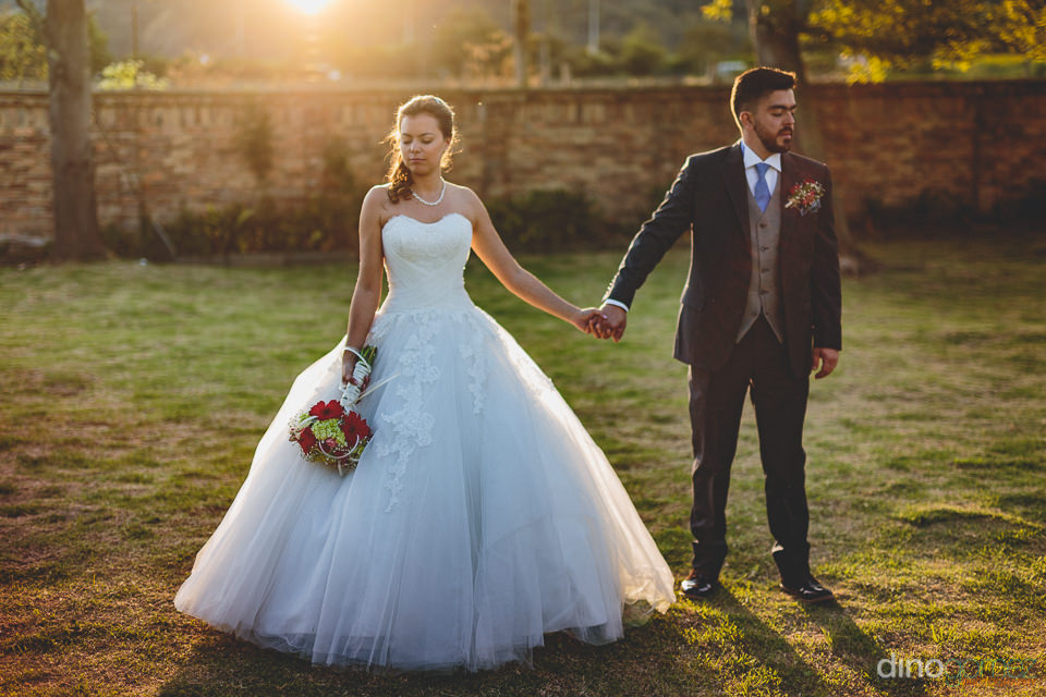 south american sunset wedding